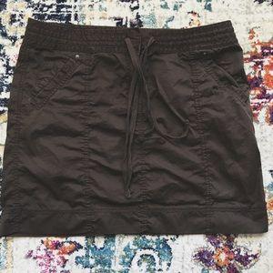 LOFT Chocolate Brown Surplus Casual Twill Skirt 12
